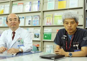 研修医の指導体制について語る中村院長と木原副院長