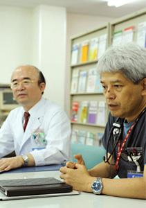 7つ目の基幹型の研修病院として名乗りを上げた理由を語る中村院長と木原副院長